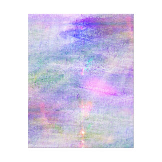 seamless blue, pink background yellow watercolor canvas print