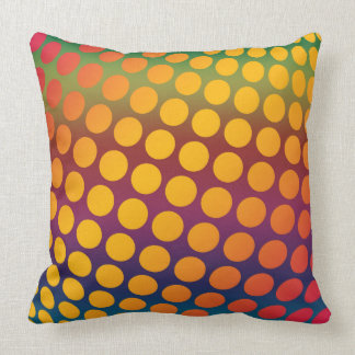 Seamless bright background. Decorative geometric Throw Pillow
