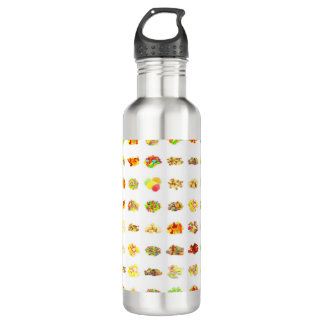Seamless Candy and Candies Pattern Background 710 Ml Water Bottle