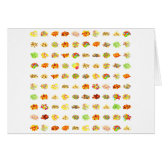 Seamless Candy and Candies Pattern Background Card