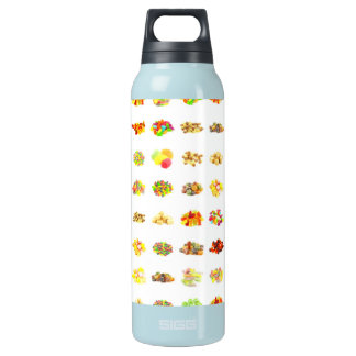 Seamless Candy and Candies Pattern Background Insulated Water Bottle