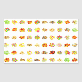 Seamless Candy and Candies Pattern Background Sticker