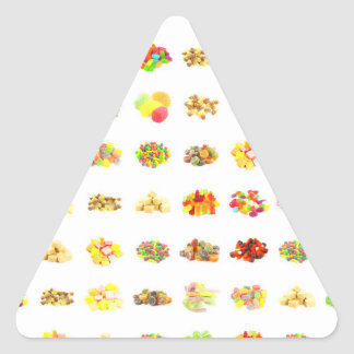 Seamless Candy and Candies Pattern Background Triangle Sticker