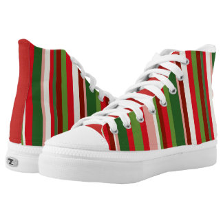 Seamless Christmas Geometric Pattern High Tops