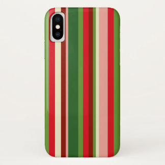 Seamless Christmas Geometric Pattern iPhone X Case