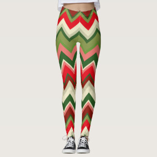 Seamless Christmas Geometric Pattern Leggings