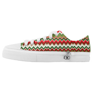 Seamless Christmas Geometric Pattern Low-Top Sneakers