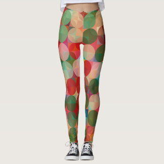 Seamless Christmas Geometric Round Pattern Leggings
