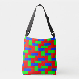 Seamless Colourful Pattern of Symmetric oblong Crossbody Bag