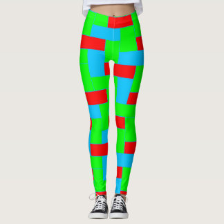 Seamless Colourful Pattern of Symmetric oblong Leggings