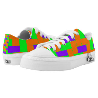 Seamless Colourful Pattern of Symmetric oblong Low-Top Sneakers