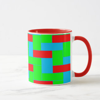 Seamless Colourful Pattern of Symmetric oblong Mug