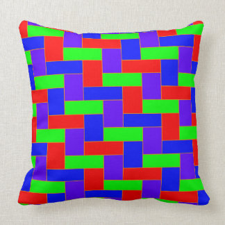 Seamless Colourful Pattern of Symmetric oblong Throw Pillow