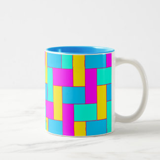 Seamless Colourful Pattern of Symmetric oblong Two-Tone Coffee Mug