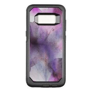 seamless cubism purple abstract art OtterBox commuter samsung galaxy s8 case