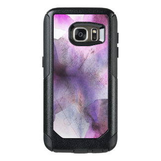 seamless cubism purple abstract art OtterBox samsung galaxy s7 case