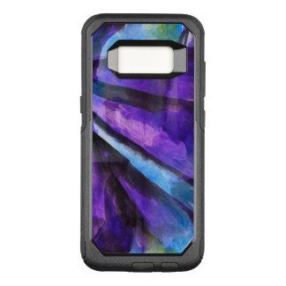 seamless cubism purple, blue abstract art OtterBox commuter samsung galaxy s8 case