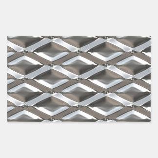 Seamless Diamond Shaped Chrome Plated Metal Sticker