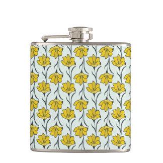Seamless Flower Buttercup Elegant Pattern Flask