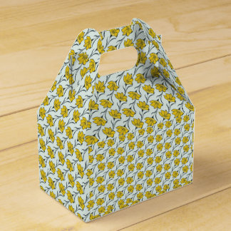 Seamless Flower Buttercup Elegant Pattern Party Favor Box