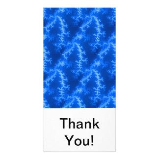 Seamless Fractal Blue Photo Greeting Card