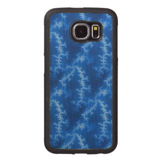 Seamless Fractal Blue Wood Phone Case