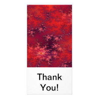 Seamless Fractal Red Customized Photo Card