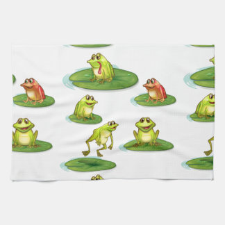 Seamless frogs kitchen towel