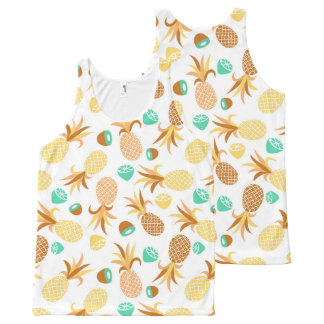 Seamless fruits pattern all-over print tank top