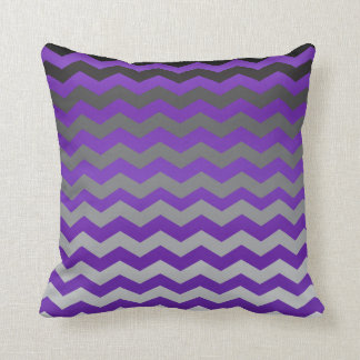 Seamless Gradient Chevron Pattern on Purple Throw Pillow