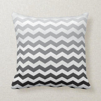 Seamless Gradient Chevron Pattern on White Throw Pillow