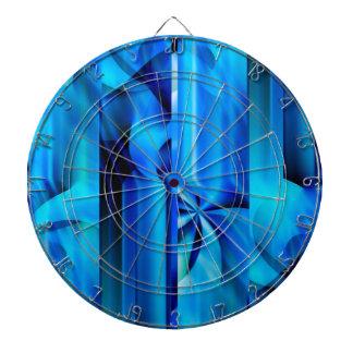 Seamless Graphic Design - blue black I Dartboard