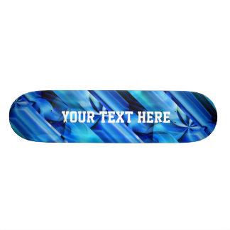 Seamless Graphic Design - blue black I Custom Skate Board