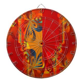 Seamless Graphic Design - red orange I Dartboard