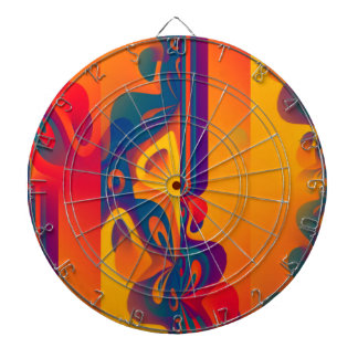 Seamless Graphic Design - yellow red I Dartboards