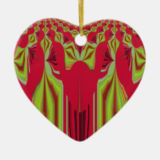 Seamless Hakuna Matata design Ceramic Heart Ornament