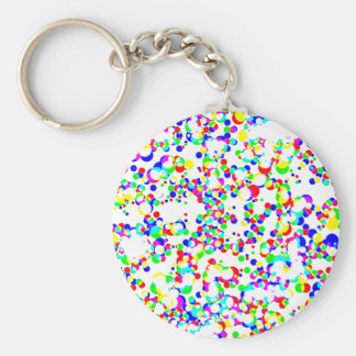seamless halftone pattern basic round button keychain