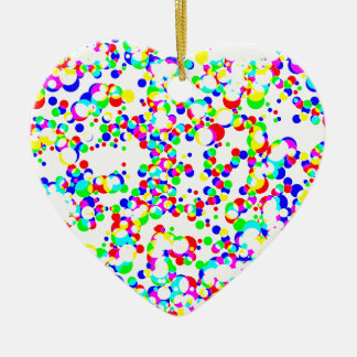 seamless halftone pattern ceramic heart ornament