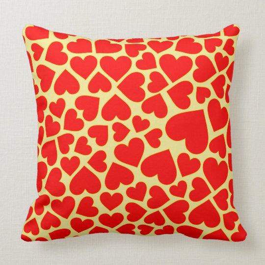 Seamless heart shape pattern throw pillow
