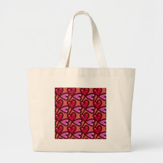 Seamless Hearts #2 Large Tote Bag