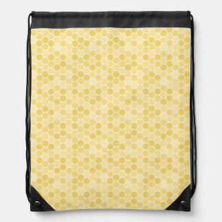 Seamless Honey Comb Pattern Drawstring Bag