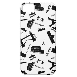 Seamless landmarks background iPhone 5 cover
