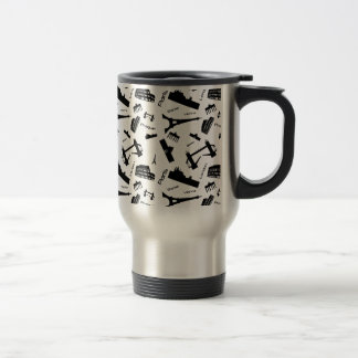 Seamless landmarks background travel mug