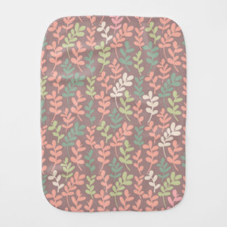 Seamless leaves pattern burp cloth