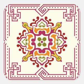 Seamless ornament tiles square sticker