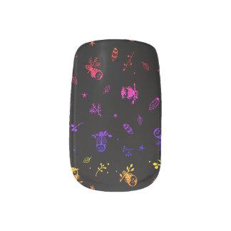 Seamless Owl Pattern Minx Nail Art Decals