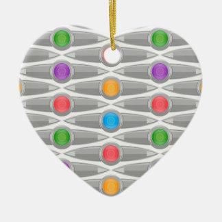 seamless-pattern #10 ceramic heart ornament