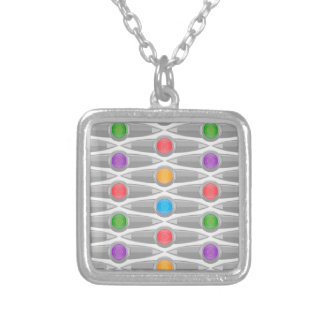 seamless-pattern #10 silver plated necklace