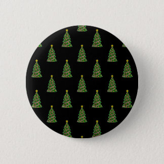 Seamless pattern with Christmas trees 2 Inch Round Button
