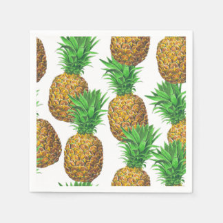Seamless pattern with pineapples disposable napkins